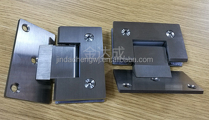 square 135 degree glass to wall hinge for glass shower room