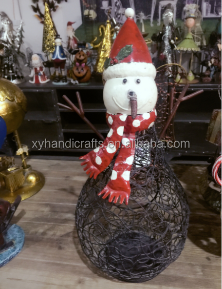 Crafts gifts decoration for outside garden and yard handmade western metal garden gnomes knomes