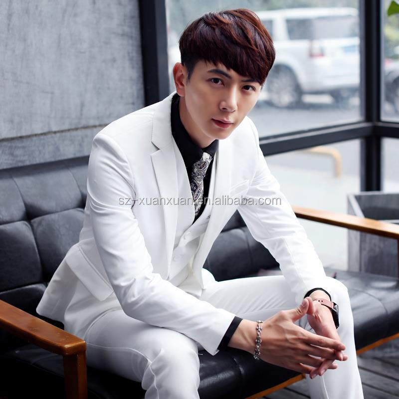 New design white wedding suit for man with high quality 3pieces suit