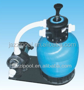 JAZZI Swimming pool fiberglass bobbin wound sand Filter With Pump 041217-041222