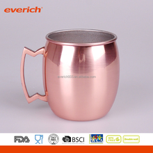 Barrel Shaped Moscow Mule Copper Mug, 100% Pure Solid Copper Handcrafted Beer Cup