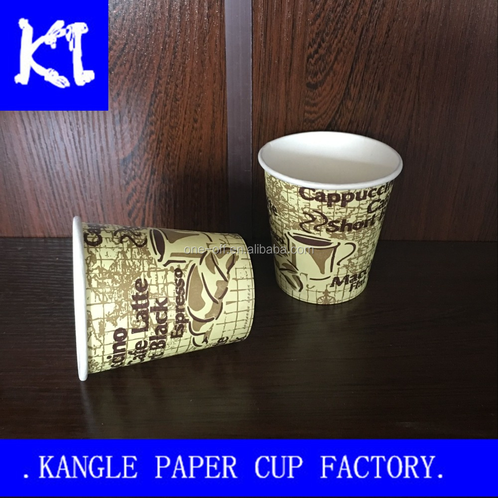 7oz Printed letters disposable paper cups