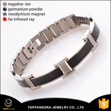 New design hot sale fashion magnetic bracelet plain stainless steel jewelry all magnet bracelet bangle