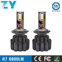 ZY P9 100W 13600LM H4 H7 v16 turbo high power with H7 led headlights bulbs holder