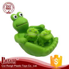 Hot New Products Rubber Frog Family Children Bath Animal Toys