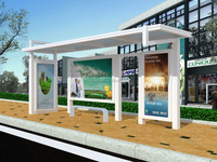 Advertising Bus Stop Shelter /Outdoor furniture bus stop shelter