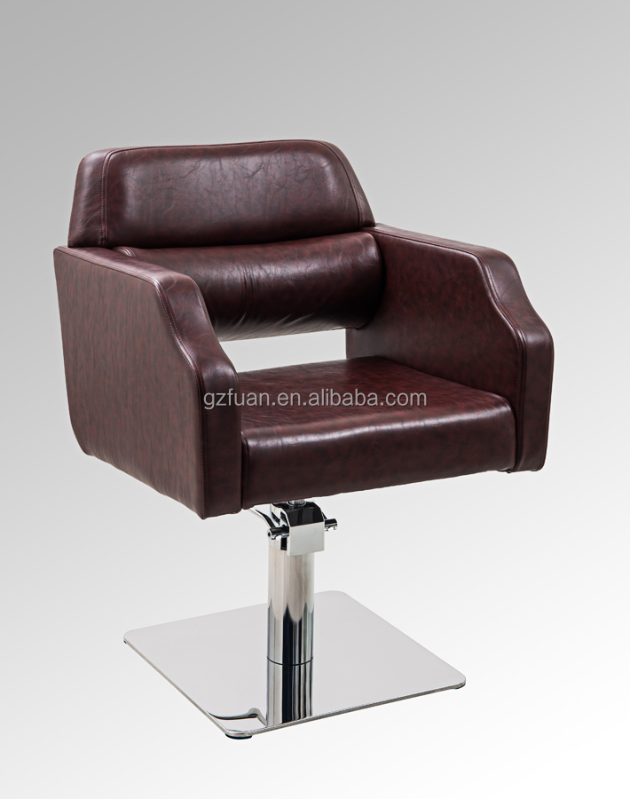 Reclining stainless steel base barber chair salon furniture 007-92