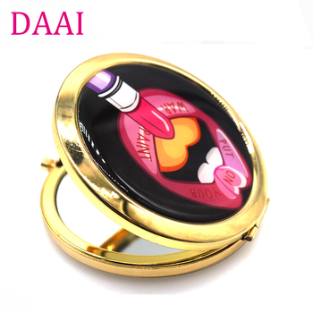 Magnifying Glass pocket mirror Vanity Compact Makeup Mirror