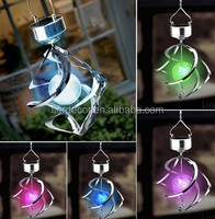 solar wind spinner light solar color changing hanging lantern solar rotating LED light SO6181