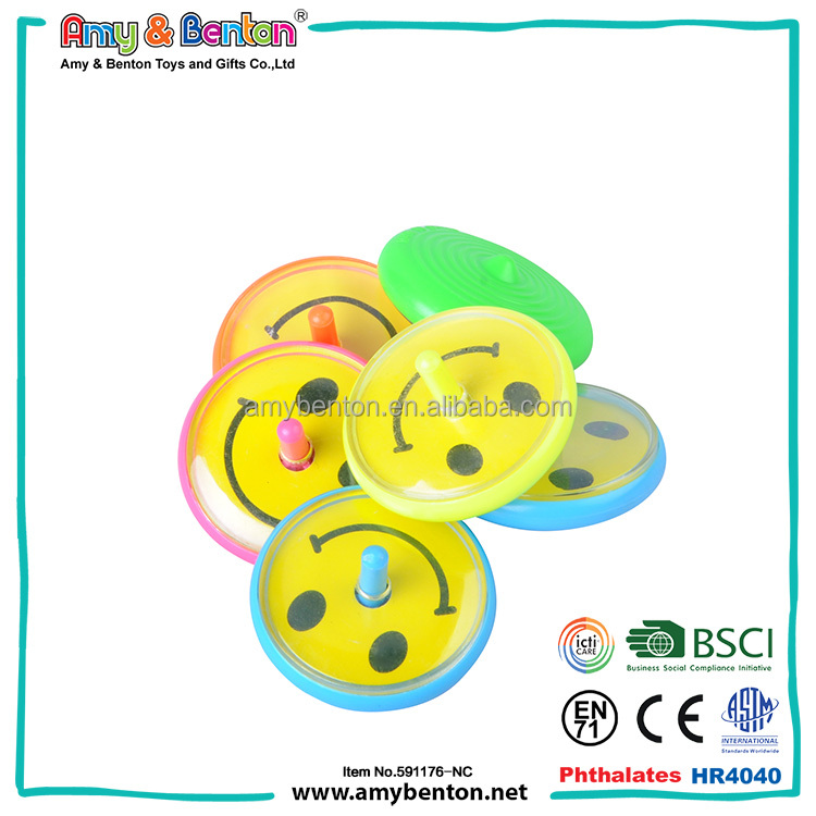 Mini plastic traditional spinning top for kids educational