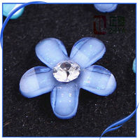 Crystal resin flower with glitter ab color factory price for stock !