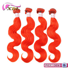 XBL New Arrival 7A Hot Selling Body Wave Red Color Indian Remy Human Hair Weaving
