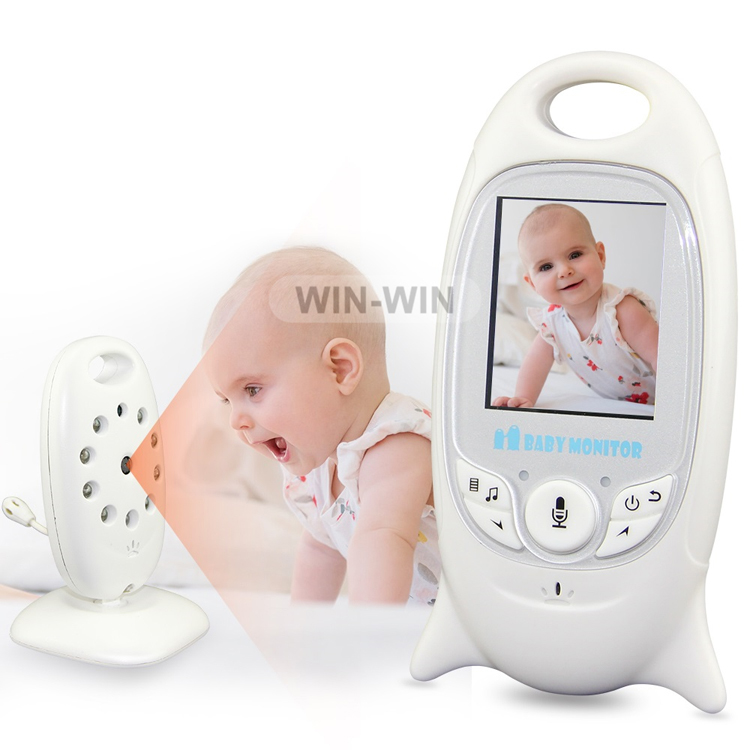 Built-in Infrared Night Vision 2.4GHz Wireless Video Recordable Baby Monitor With Built-in Rechargeable Battery