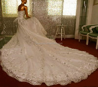 2014 middle east popular Luxury full crystal ball gown bridal wedding dress OW19