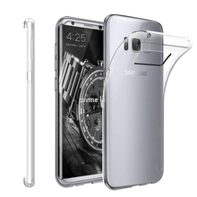 latest Transparent clear tpu back cover for samsung galaxy s8 slim ultra case