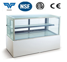 Rectangle Refrigerated cake display case/cake refrigerated display cabinet