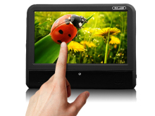 "MILION 9"" Digital Touch Screen Slimmest Attached Headrest DVD player (L0281 ,Black Color)"