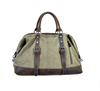 Vintage Canvas Travel Bag With Genuine Leather For Men
