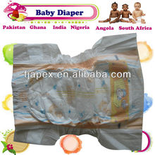 High quality printed cartoon cloth baby diapers manufacturer in China