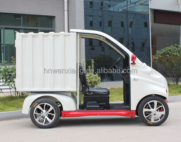 Mini Smart Electric Van Cargo Truck with Middle Steer