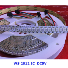 WS2812B WS2812 2812 30 Pixel/m LED Strip 5050 SMD RGB waterproof IP65 IP67 12V/5V 2812 led strip 5050 rgb