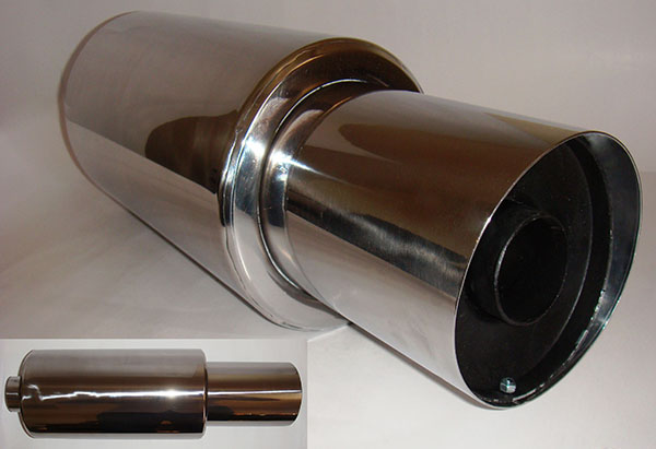 100mm Silencer Exhaust - Chrome Muffler
