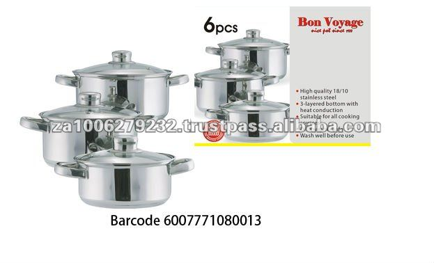 6PC Hot Sale Stainless Steel Cookware Set