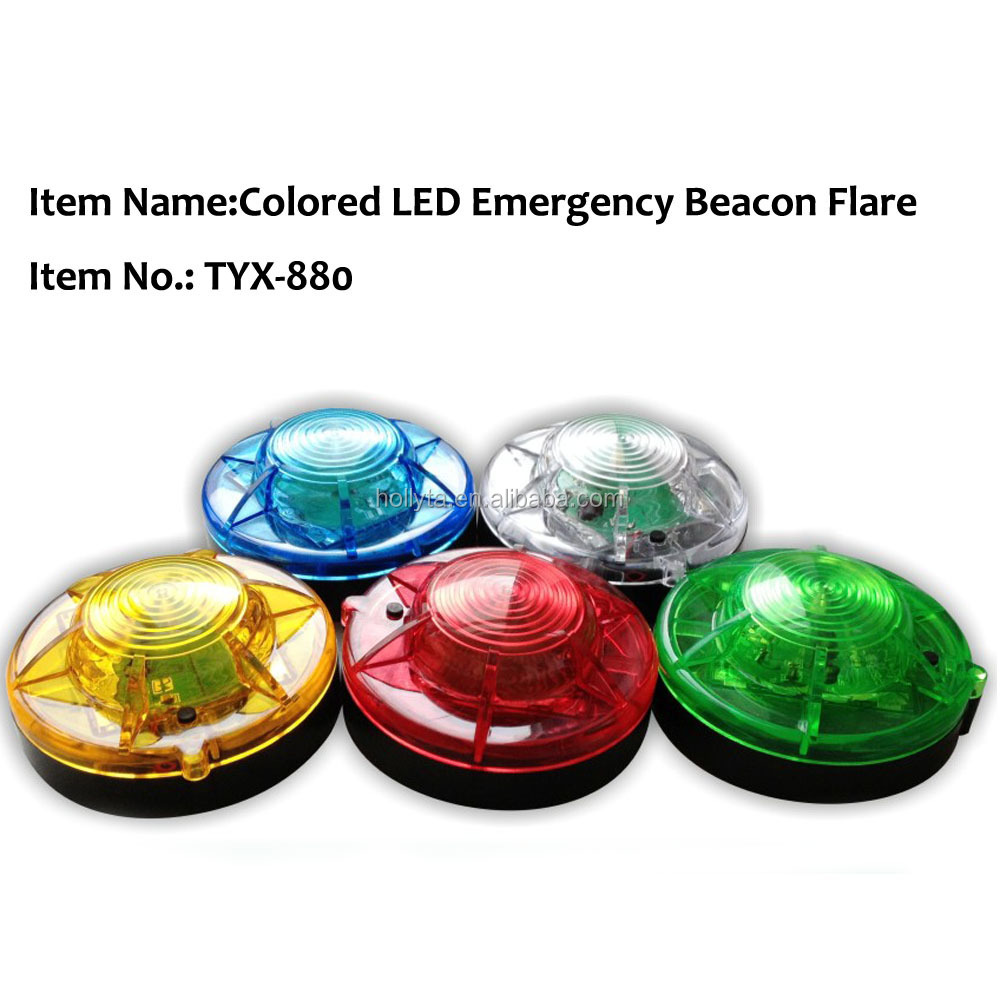 6v red blue amber color warning strobe beacon round style good plastic material strobe light xenon tube ,led strobe light