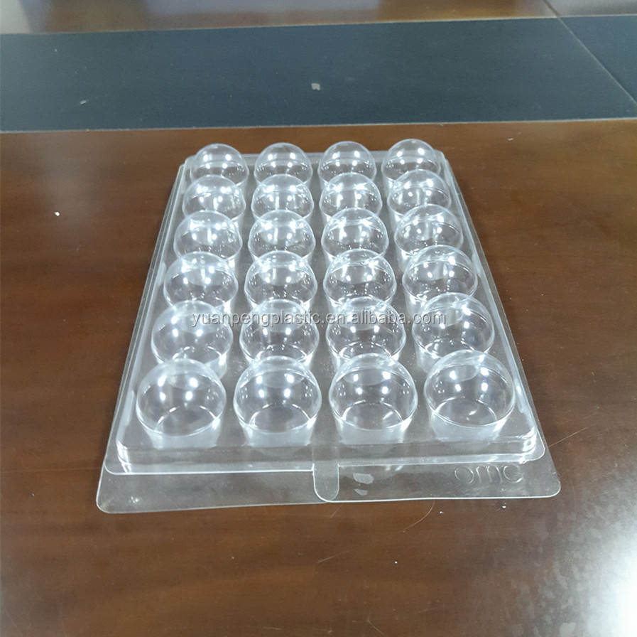 Custom clear muffin plastic package for 24 pack muffin food grade clear PET clamshell plastic packaging box for muffin package