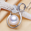 SJPN09 Small Wholesale Promotion Fashion Jewelry Attractive Design Sterling Silver Zirconia Freshwater Necklace