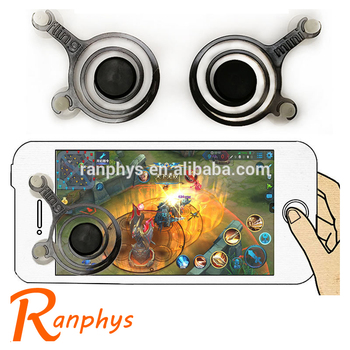 Ranphys wholesale high quality dual analog mini touch screen moblie joystick for smartphone game