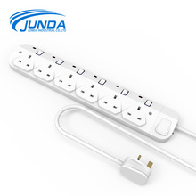 Wholesale quality assurance 6 outlets individual switch power strip with usb ports