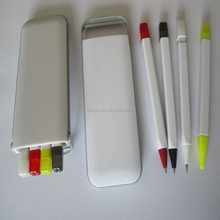 High quality 4 in 1 ball pen pencil highlighter set