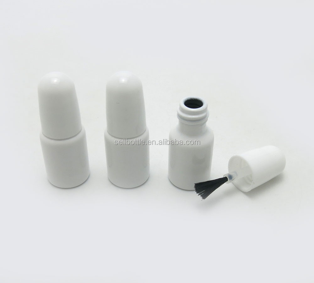 3ml White Empty Liquid Nail Polish Packaging Glass Bottle