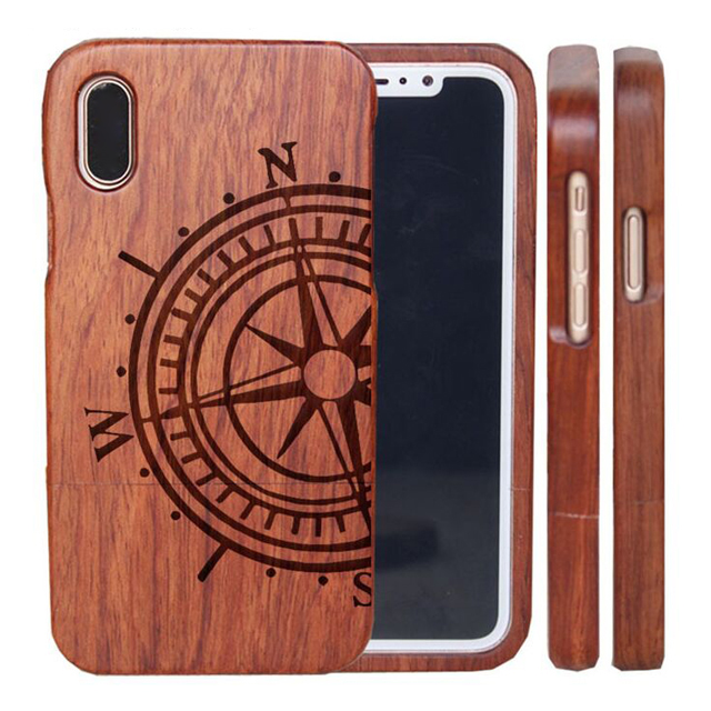 100% handmade Environmentally friendly pure wood mobile phone case for iPhone X,laser engrave logo wooden case for iPhone X