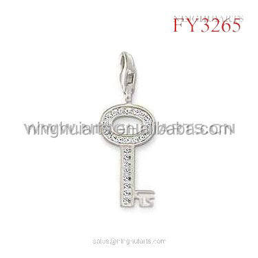 wholesale Crystal Cross Pendant Glass Vial Pendant Sterling Silver Pendant