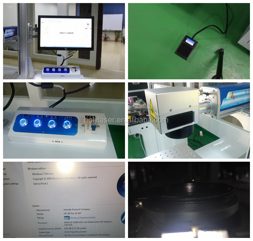 10733f3c6859 De alta velocidad de Mini Portátil Escritorio láser de fibra de marcado  láser