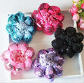 Sequins Scrunchie Hair Bun Net Thick Colour Mesh Fabric Crochet Ballet Dance Snood Cover Snood Hair Holder