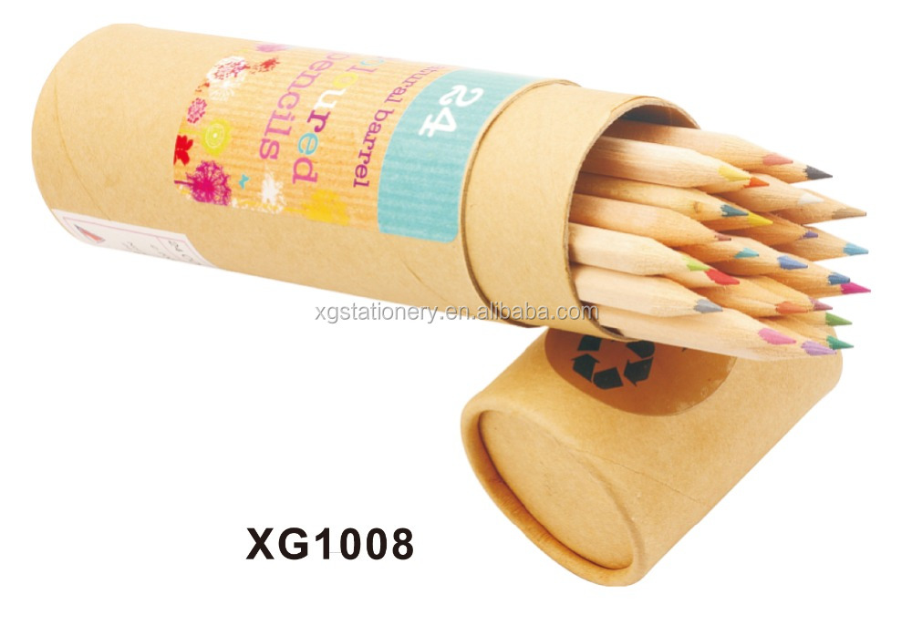 Color Lead Color Natural Wood Pencil in Paper Tube