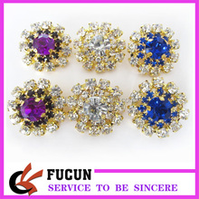 alibaba wholesale small crystal colors brooch pin for wedding bouquet