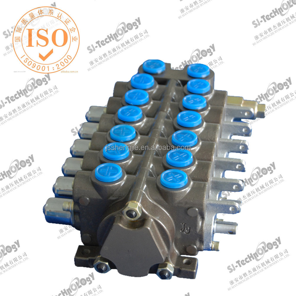 80l/min 6 spools manual hydraulic sectional directional control valve