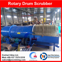 100T/H rubber lining alluival tin mining tin washing scrubber