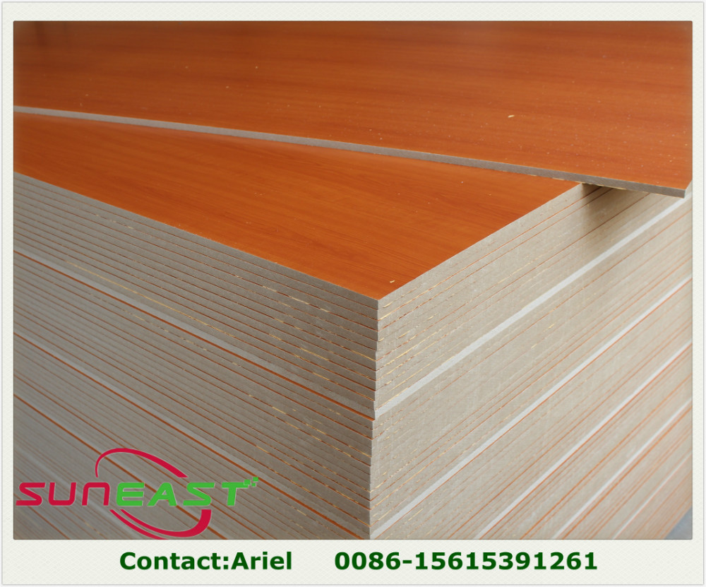 15mm 18mm both sides melamine faced MDF,melamine faced plywood , wood grain colour for Paraguay maket