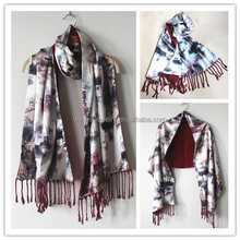 New fashion double-layer long lady silk scarf