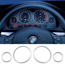 Car Dashboard Decoration, E38 E39 E53 Gauge Cluster Bezel Chrome Dashboard Rings, Car Accessories Interior Decoration