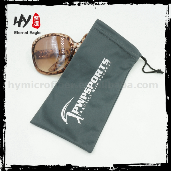 Hot selling microfiber double drawstring pouch with logo printing with great price