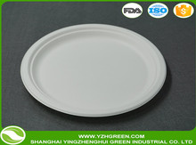 eco-friendly disposable paper 23cm round biodegradable plate