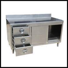 Modern kitchen cabinet/ kitchen used stainless steel cabinet/restaurant with drawers