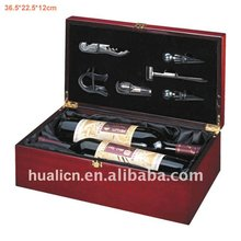 portable 2 bottles wine box wooden MDF gift box for wine