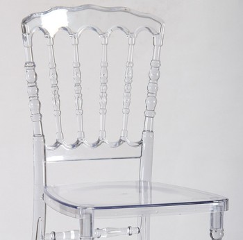 Quality PC Resin Napoleon Wedding Chair Transparent Supplier